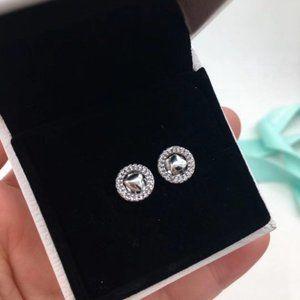 Pandora Hoop Heart Stud Earrings